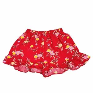 4/$30* Streetwear Society Red Floral Ruffle Shorts